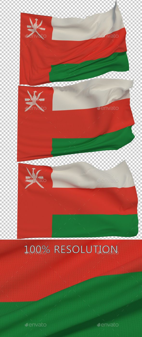 Flag of Oman - 3 Variants by Stanyslav12345 Hello Everyone. This is my new Flag of Oman. Hope you find it useful! 3 PNG images with Alpha and 3 copy in low resolution Resolu