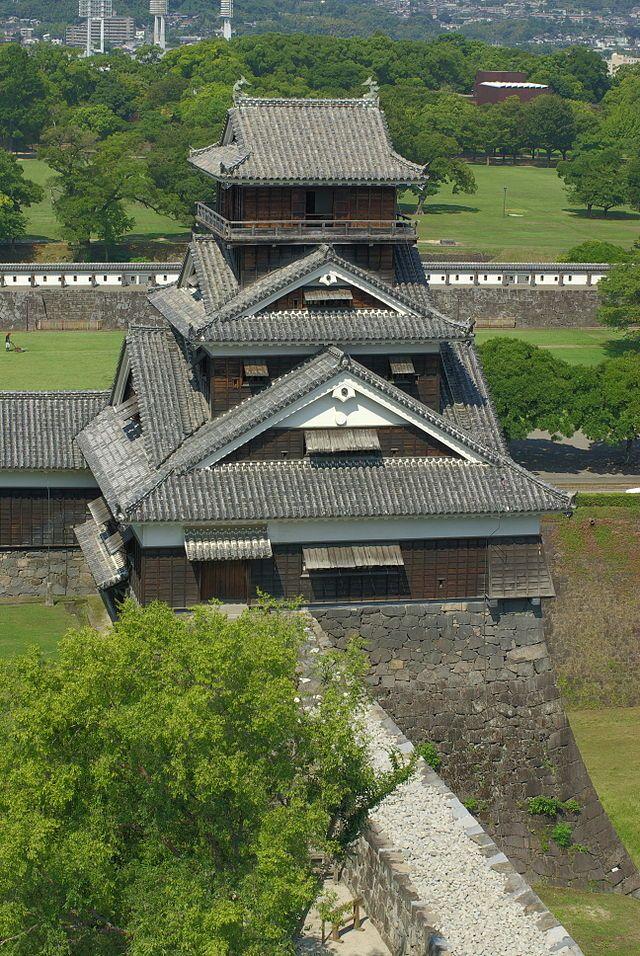 "'Uto-Yagura'. 'Torre'.   ""Castelo de Kumamoto"". # Kumamoto, Japão."