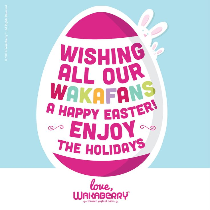 Happy Easter Wakafans! Love Wakaberry