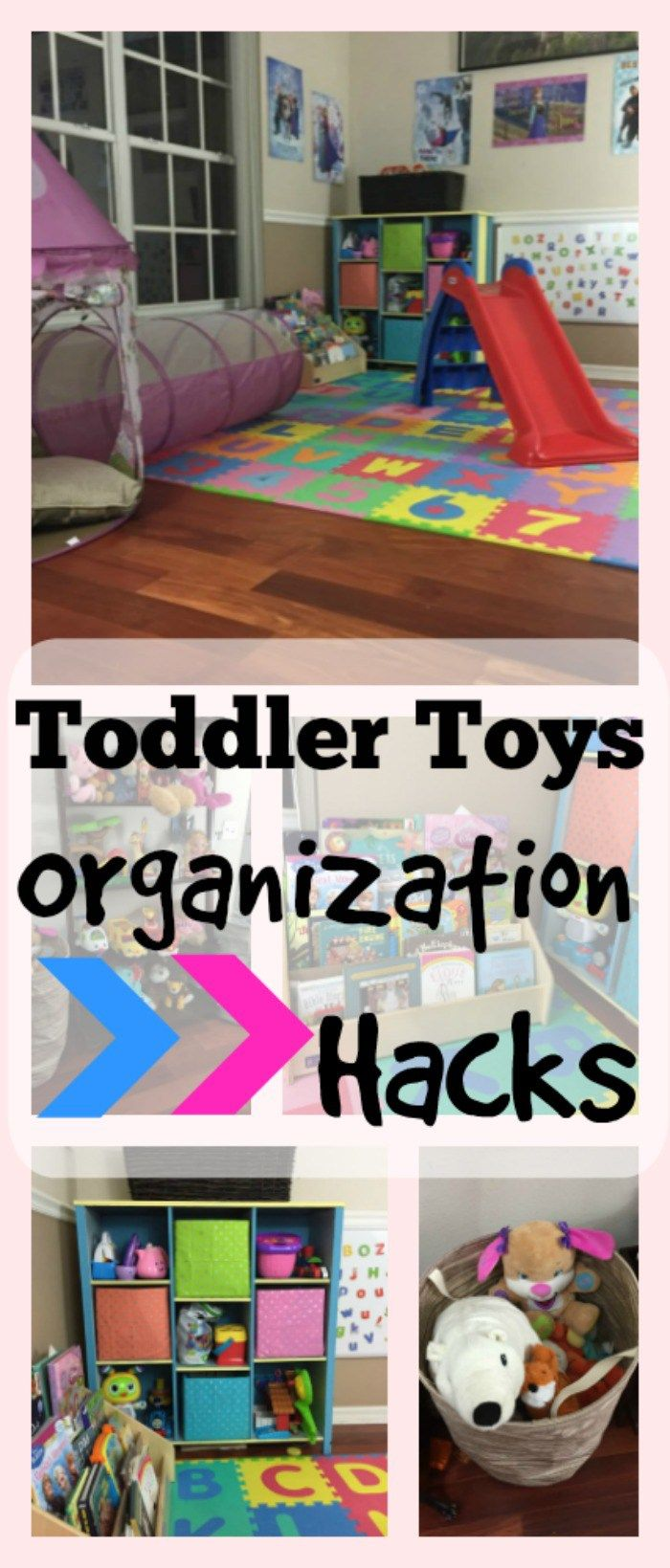 Great hacks for organizing toys around the house!