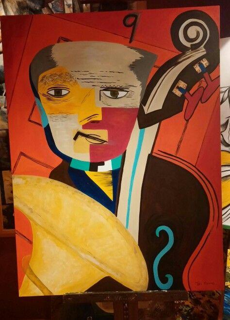 """Pierre cat""  30"" x 40"" acrylic on canvas Artist: Teri Moores"