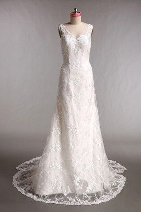 Robe de mariée trapèze en satin sans manche à traîne amovible
