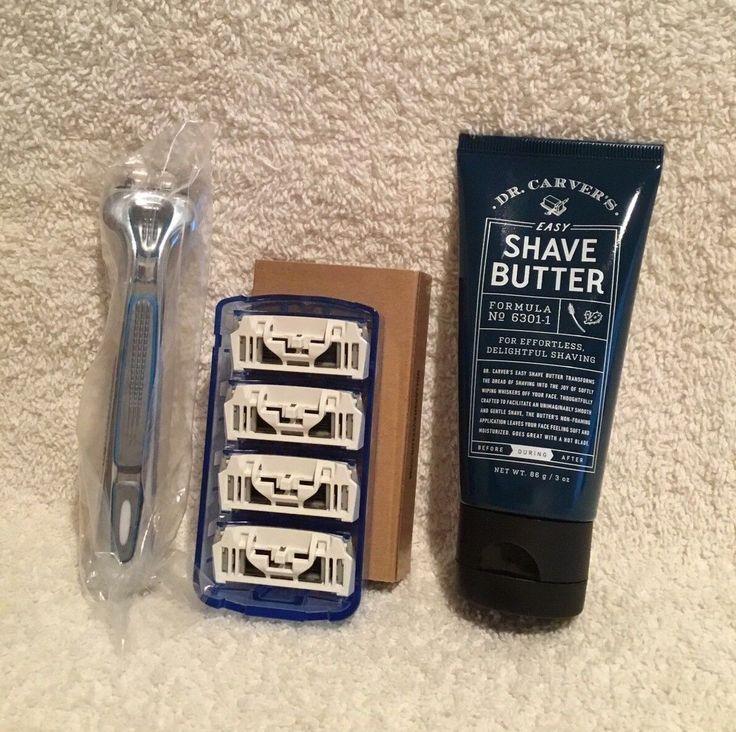 Dollar Shave Club Executive Razor Handle CartridgesDr. Carvers Shave Butter 3oz