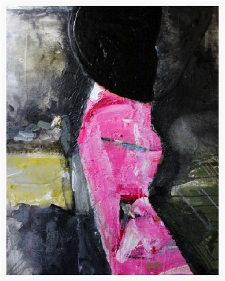 "Pavel Roučka ""Colonne Erotique""  Acrylic on canvas 100x80   £9,000"
