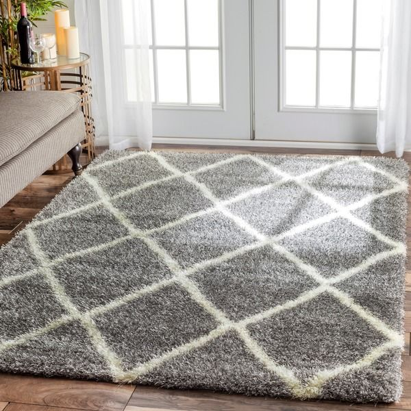 nuloom soft and plush moroccan trellis shag rug 4u0027 x 6u0027 by nuloom