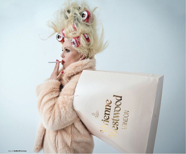 The amazing Joanna Lumley as Patsy shot by Tim Walker - Vivienne Westwood - London