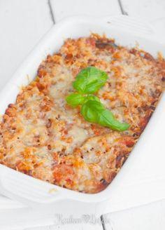 Macaroni-ovenschotel met mozzarella en courgette