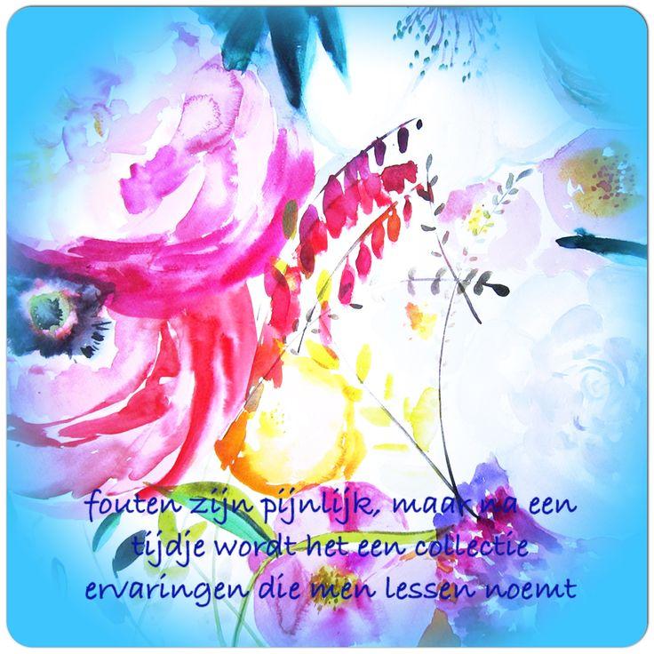 #Fouten zijn #pijnlijk, maar na een tijdje wordt het een collectie ervaringen die men lessen noemt