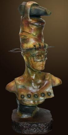 """The New Prophet"" by Renzo Bronze Sculpture Edition Size: 55 SN Size: 39""h x 18""w x 12""d"
