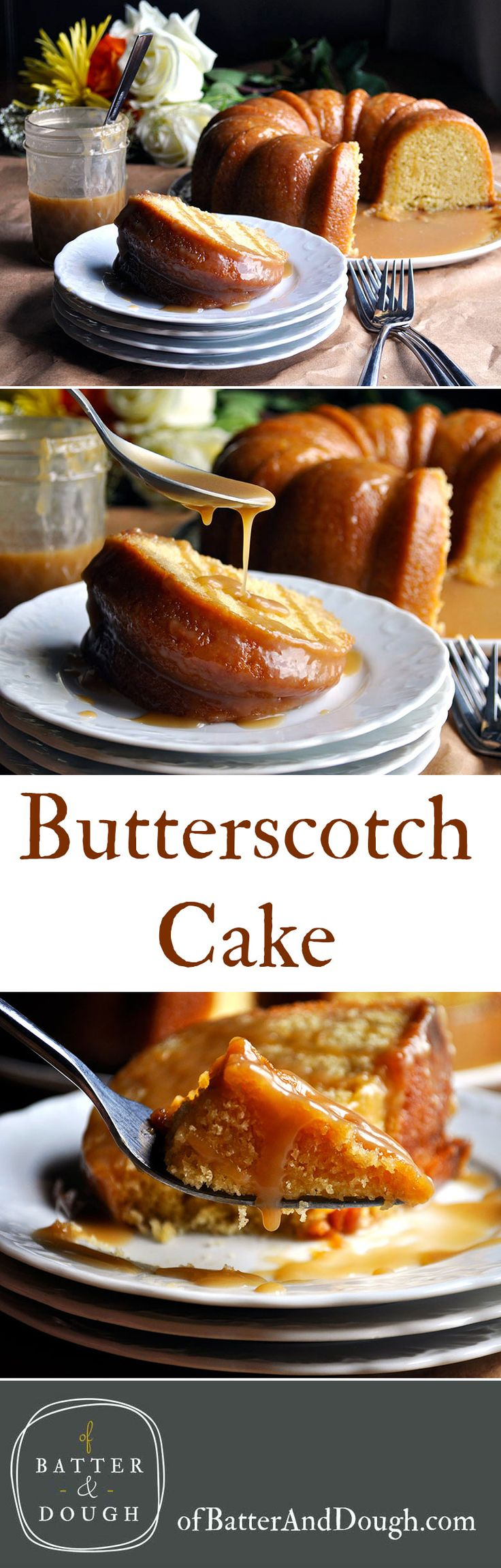 Butterscotch Bundt Cake. Tender, moist, buttery bundt cake coated in a thick layer of homemade butterscotch sauce.