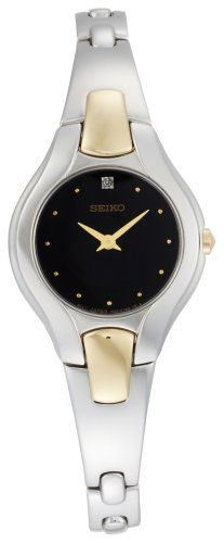 Seiko Womens SUJF87 Diamond TwoTone Dress Watch * Check out the image by visiting the link.