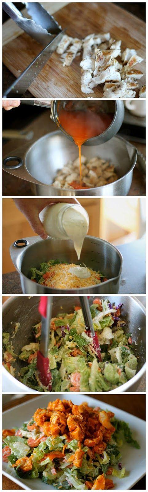 Chopped Buffalo Chicken Salad ♥ , cooking amazing paleo recipes today with Paleo Recipe Book : http://www.thepaleorecipebooks.com