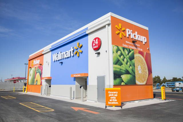 Walmart is giving its online grocery customers in the Oklahoma City area an opportunity to use an automated kiosk to pick up their purchases as a way to save time. The kiosk is a 20- by 80-foot building located in the outer parking lot at the Walmart Super Center at N Council and W Britton Roads in Oklahoma City. [Photo provided]