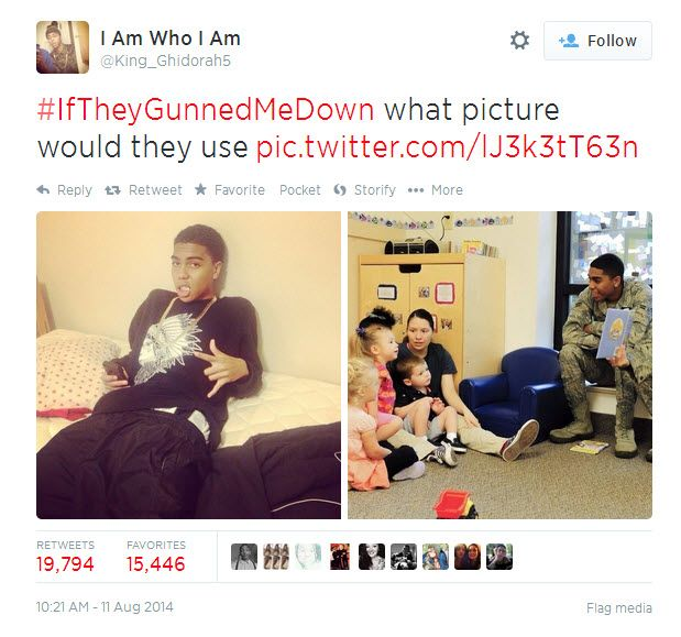 '#IfTheyGunnedMeDown': African Americans challenge media stereotypes after Ferguson shooting