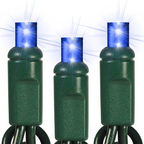 Blue - 70 LED Bulbs - Wide Angle Lens - Length 23.3 ft. - Bulb Spacing 4 in. - Green Wire - Polka Dot Christmas Mini Light String - HLS 45611 by HLS. $16.52. Part No.: 45611 - Wattage: 4.8 Watt - Bulb Spacing: 4 in. - Connection: Male to Female - Lead Length: 4 in. - Lighted Length: 23 ft. - Tail Length: 4 in. - Max. Connections: 40 Sets