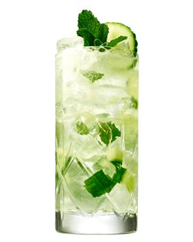 Henrick's Summer Mule (with gin, St Germaine, lime juice, mint leaves, cucumber & ginger beer)