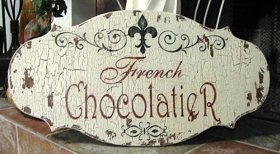 french chocolatiers | FRENCH CHOCOLATIER Vintage Style Chippy Shabby Cottage French ...