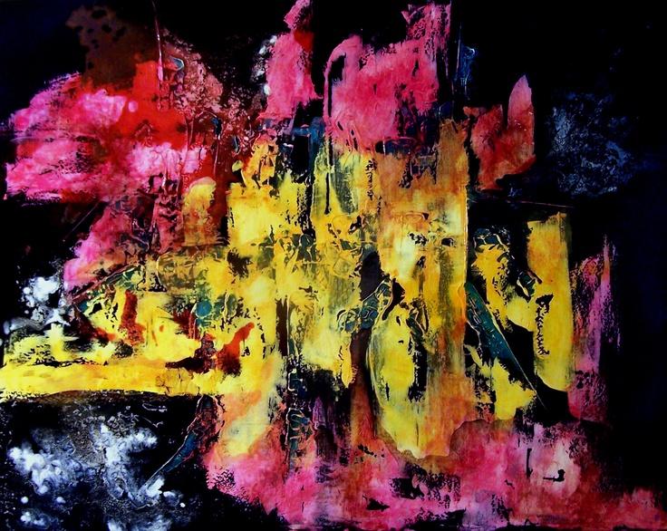 'Battle For Dominion 1', mixed media on canvas. 100cms x 80cms
