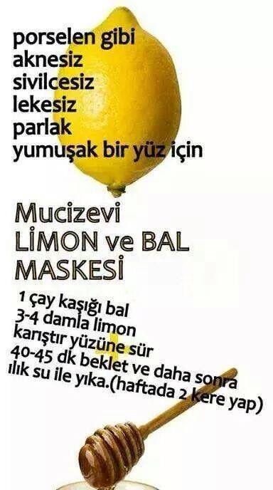 ✿ ❤ Mucizevi Limon ve Bal maskesi!