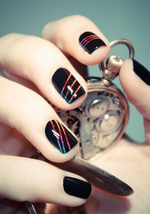 Mejores 41 imágenes de Uñas decoradas con cintillas - Nails with ...