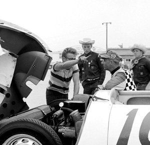 James Dean at the race track.