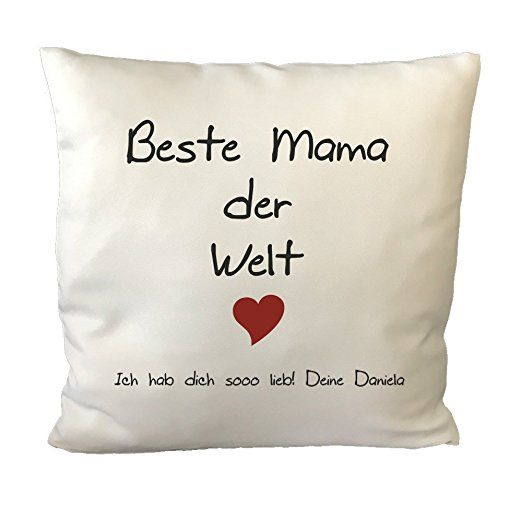 Gravurxxl Kissen Mit Spruch Beste Mama Der Welt Kuschelkissen