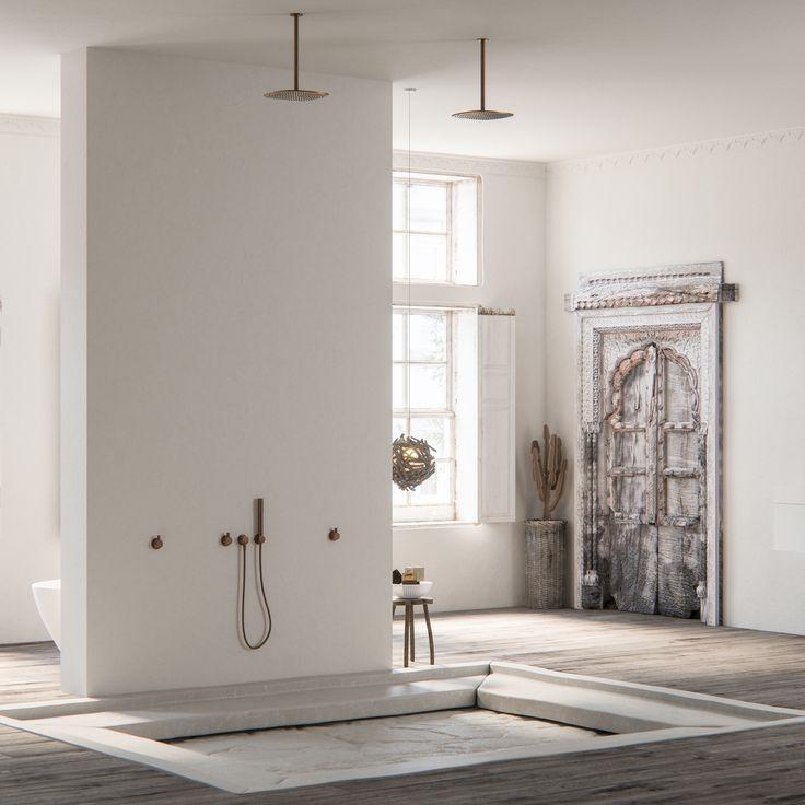 188 best mediterranean style images on for Mediterranean style bathroom