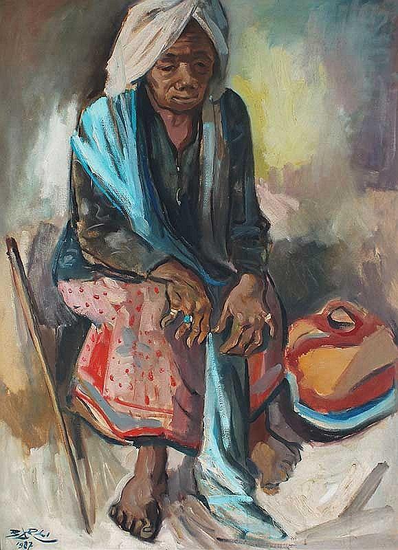 PEREMPUAN INDONESIA, artist Barli Sasmitawinata (Bandung, Java 1921~2007)