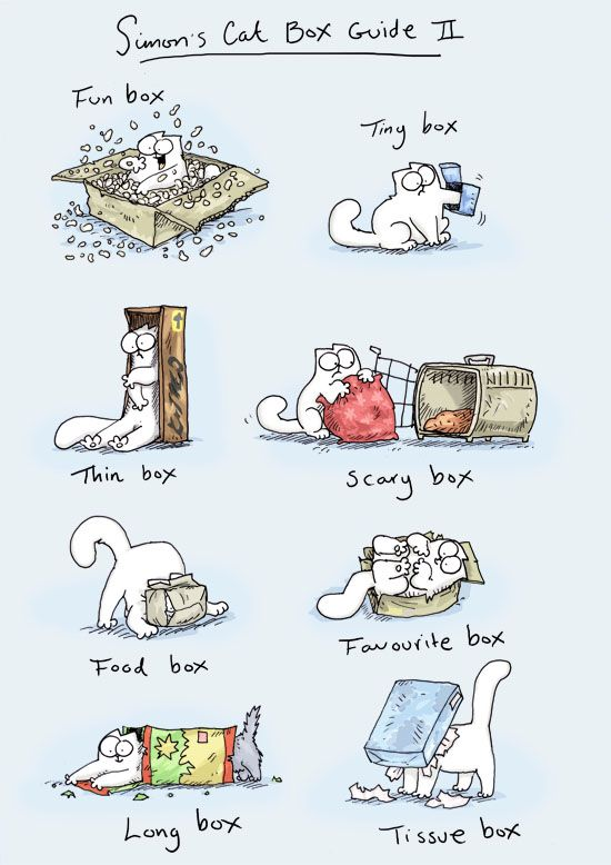 Simon's Cat - Simon's Cat's Box Guide No. 2, one of my favorite comics, they are all so true: