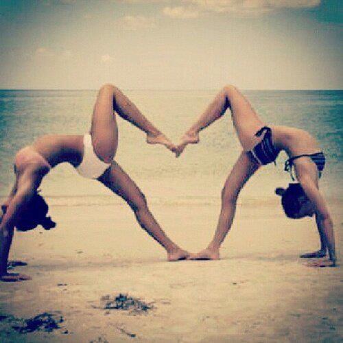 Do yoga on an Hawaiian beach with my best friend
