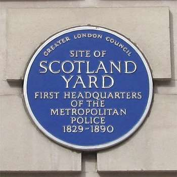 Plaque erected in 1979 by Greater London Council at Ministry of Agriculture Building, Whitehall Place, Westminster, London SW1A 2HH, City of Westminster