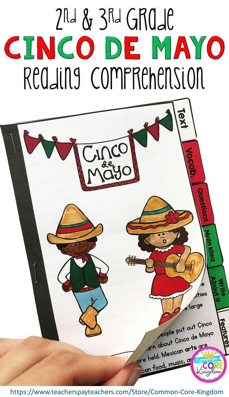 medium resolution of Cinco de Mayo Reading Comprehension Flip Book Activities- 2nd \u0026 3rd grade   Cinco  de mayo reading comprehension
