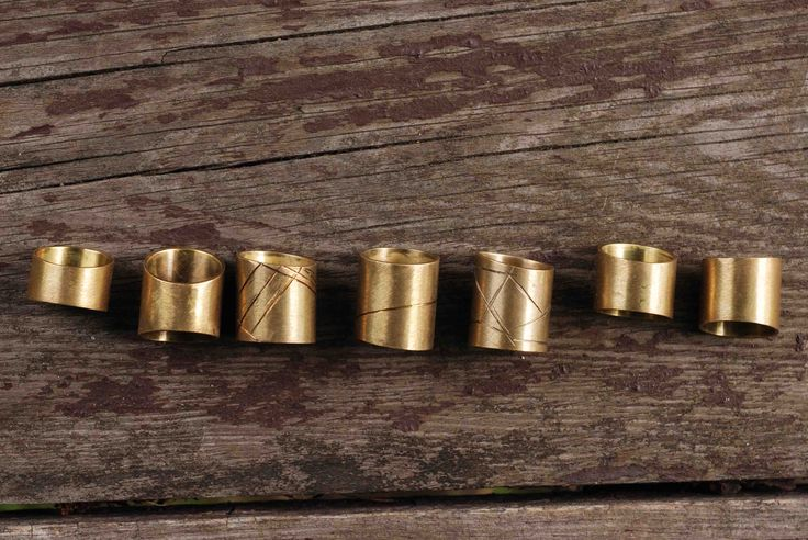 "#rings #linear # brass #fashion ""linear rings"""