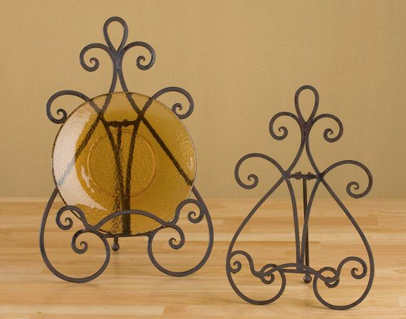 Wrought iron decorative easel plate stand 14.75 tall by ginatet  sc 1 st  Pinterest & 18 best Plate Easels images on Pinterest | Easels Saw horses and ...