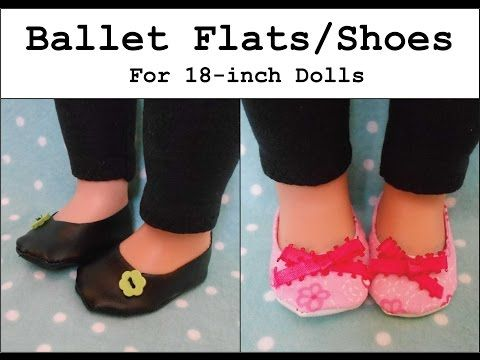 How to Make Ballet Flats / Shoes for an 18 inch Doll - YouTube