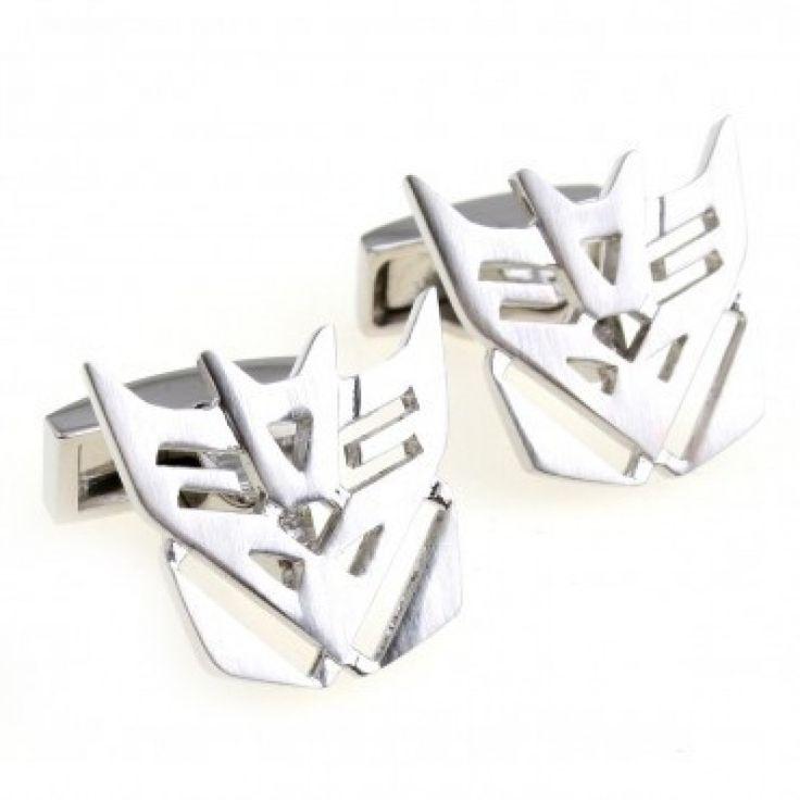 Robot face - silver #Cufflinks #cufflinkspalace