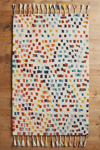 Anthropologie Multi-Dotted Rug Swatch