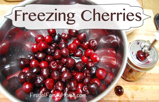 How to freeze cherries and my favorite pitter with a video of two ways to pit cherries.
