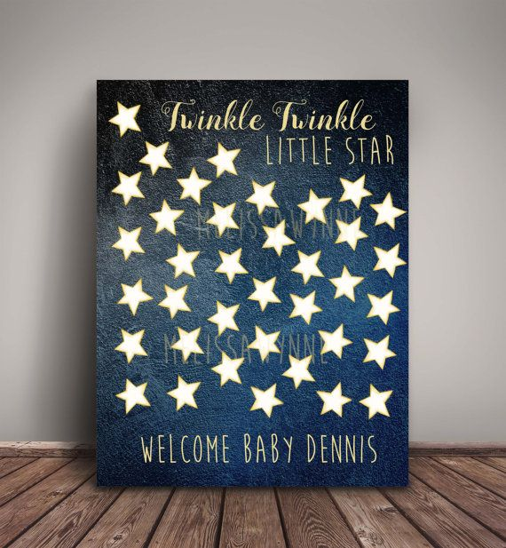 Twinkle Twinkle U0027Guest Booku0027 Alternative   Fine Art Print, Guests Sign A  Star! Little Star Baby Shower