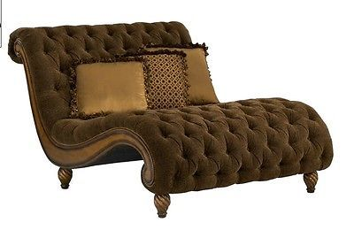 Rachlin classics furniture dinah s chaise a half in for Chaise and a half