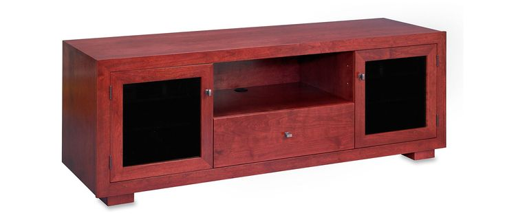 Haven EX 72-inch Solid Wood TV Stand / TV Console / Media Console for Flat Screen TVs to 80-inch by Standout Designs (Rose on Cherry)