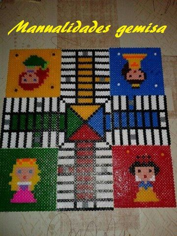 Parchis princesas Disney hama beads by Manualidades Gemisa