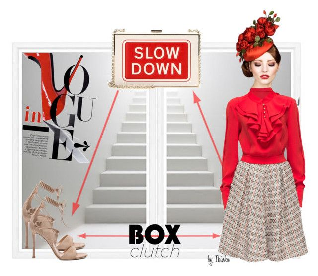 Box Clutch by ibinka on Polyvore featuring polyvore, fashion, style, Lattori, Gianvito Rossi, Anya Hindmarch, William Stafford, Rachel Trevor-Morgan and clothing