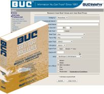 The Marine Industry Used Boat Price Guide for boats and yachts - The BUC Used Boat Book Value Guide.