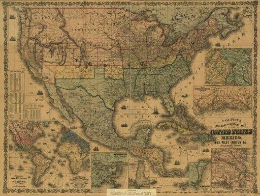 Best Maps Vintage Images On Pinterest Cartography Old - Old us map
