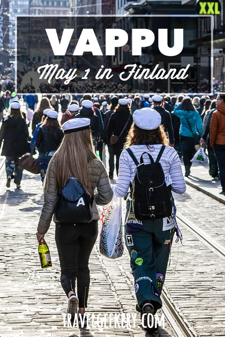 May 1st Vappu Celebration in Finland | TravelGeekery   How Finns celebrate May Day, Vappu. A feast belonging to students and workers alike, takes over cities and turns the peaceful country into mayhem. Check out what it's like! #vappu #finland #may1