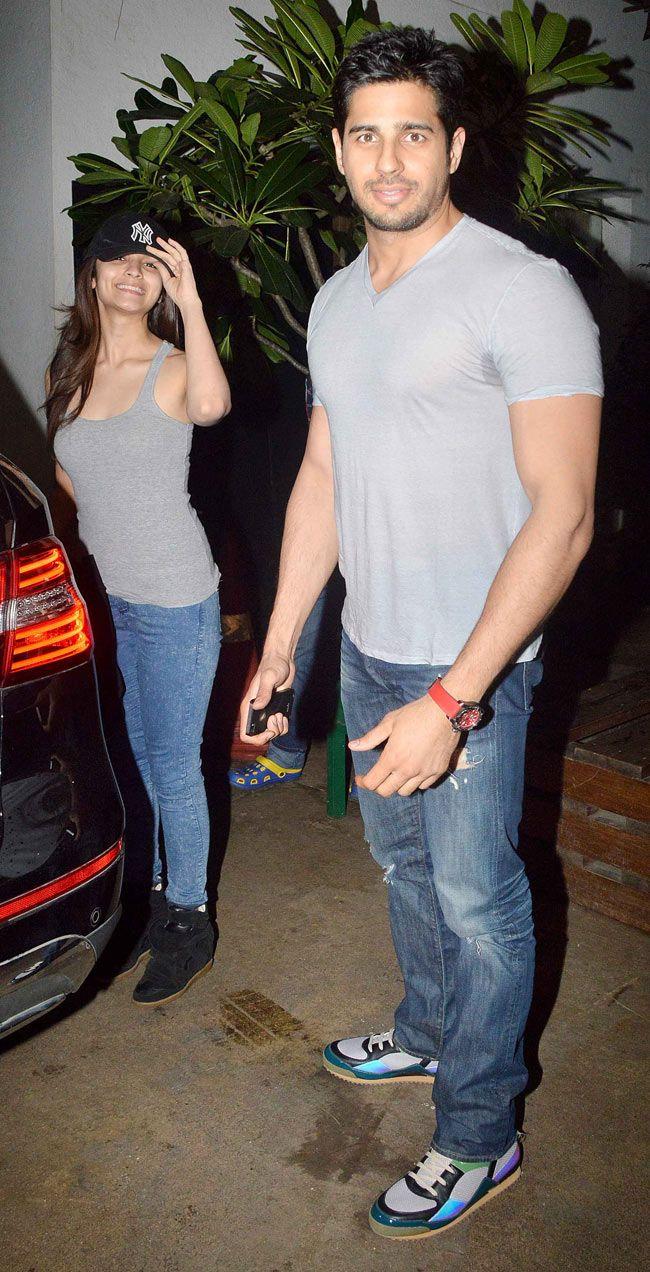 Alia Bhatt spotted along with Sidharth Malhotra. #Style #Bollywood #Fashion #Beauty
