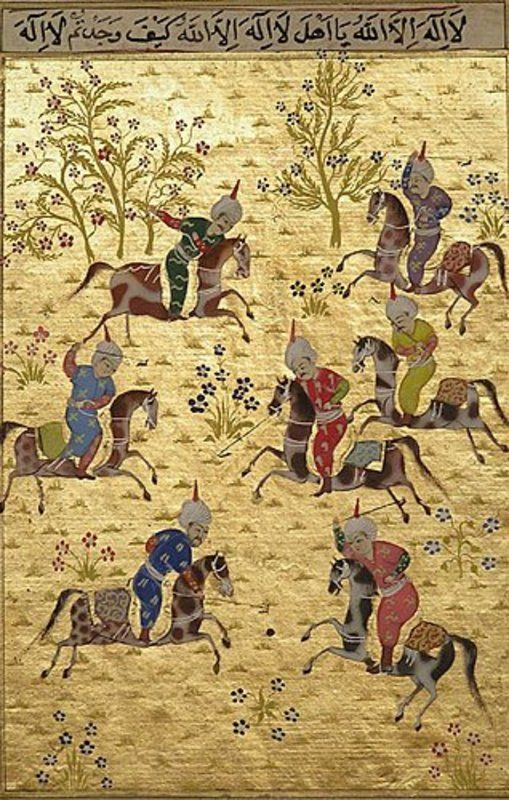 Miniature Painting of Polo Match (item #396166, detailed views)