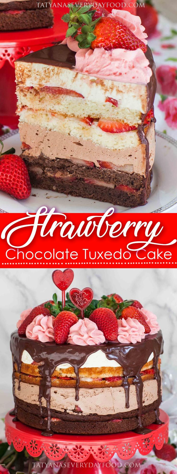 Hello, February! It's time for some Valentine's Day desserts and I have you covered with some new and exciting recipes. This strawberry tuxedo cake is a fun and fruity take on my original tuxedo cake and I think you'll love it! It's made with tender cake layers, no-bake cheesecake layers and loads of strawberries. And […]