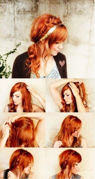 braid: Side Ponies, Hair Colors, Red Hair, Long Hair, Side Ponytail, Hair Style, Redhair, Side Braids, Ponies Tail